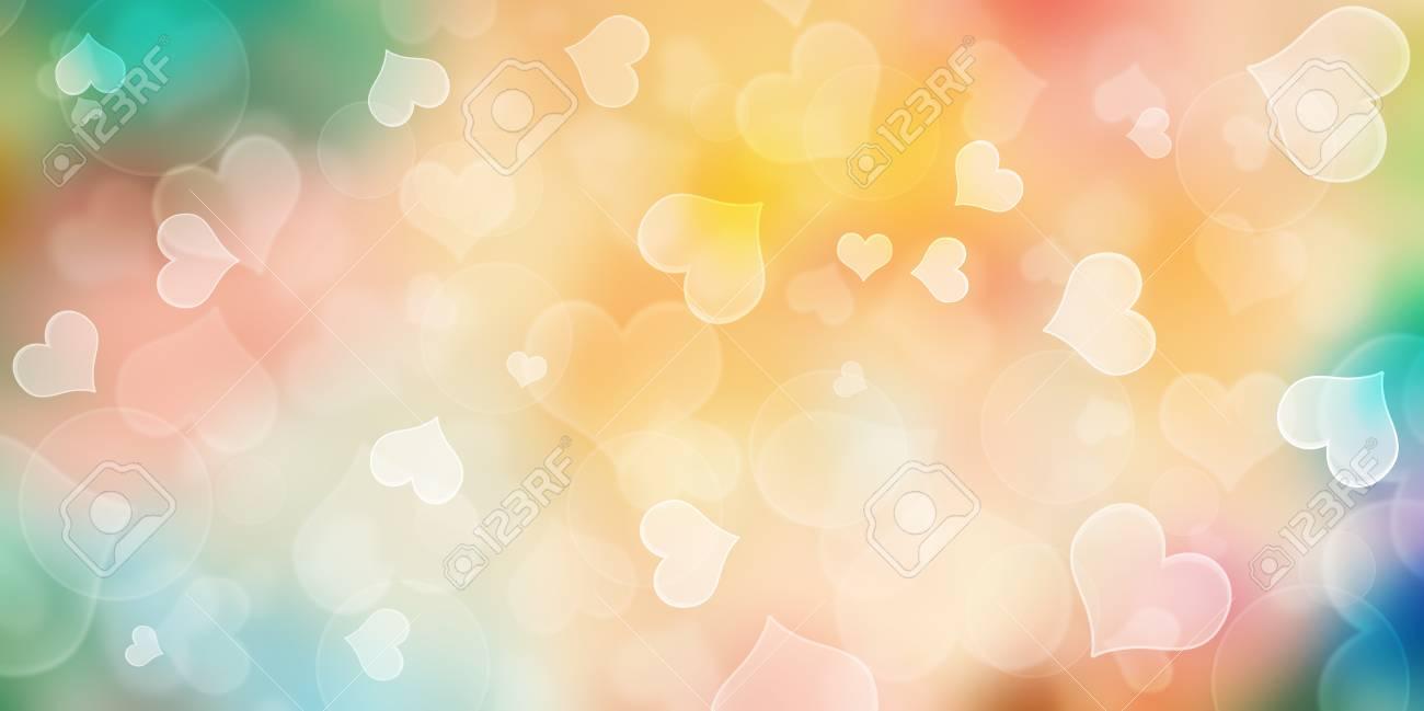 heart bokeh background love