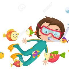 illustration of boy scuba diving vector stock vector 33283029 [ 1300 x 1031 Pixel ]