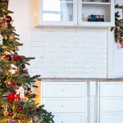 Beautiful Living Rooms At Christmas Room Chests Cabinets Tree In New Year Decorated Classic Home Interior Winter