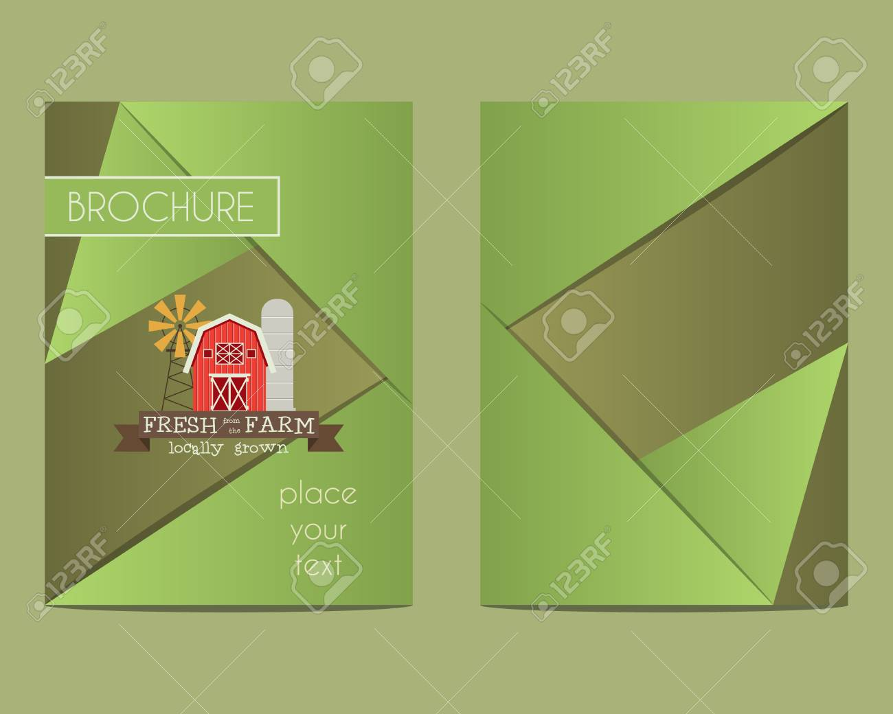 hight resolution of brochure and flyer a4 size design template with organic farm concept best for natural farm