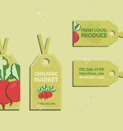 summer farm fresh sticker template or brochure design with radish mock up design with [ 1300 x 1040 Pixel ]
