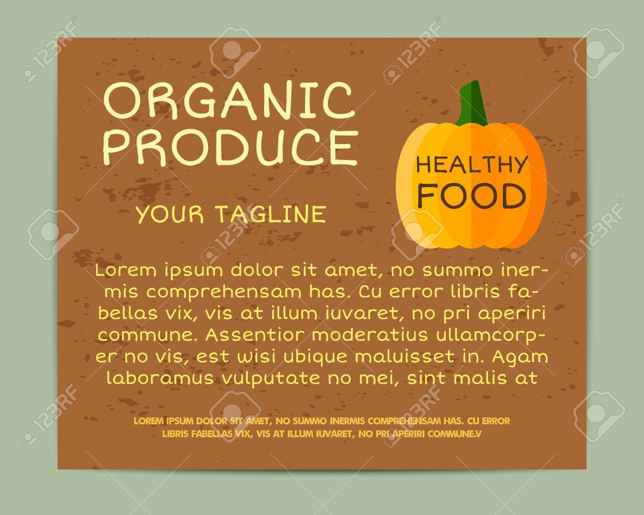 hight resolution of organic farm corporate identity design with pumpkin branding your eco shop company stickers