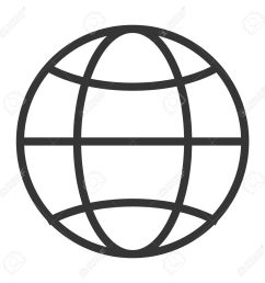 simple globe diagram with latitude lines and meridians vector illustration stock vector 58651410 [ 1300 x 1300 Pixel ]