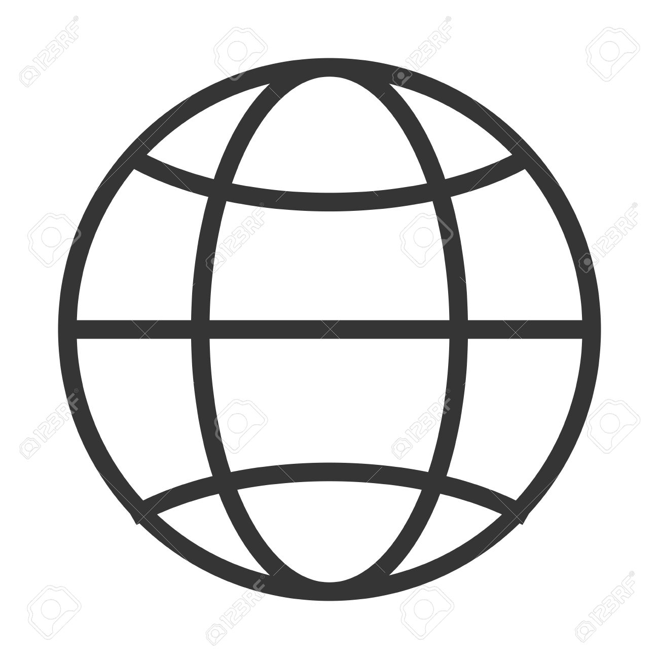 hight resolution of simple globe diagram with latitude lines and meridians vector illustration stock vector 58651410