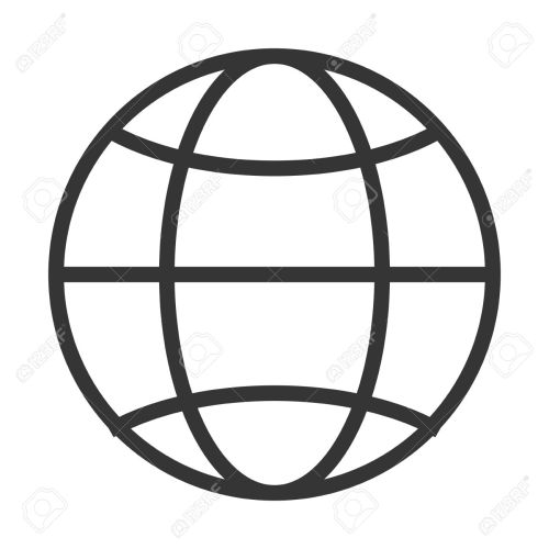 small resolution of simple globe diagram with latitude lines and meridians vector illustration stock vector 58651410