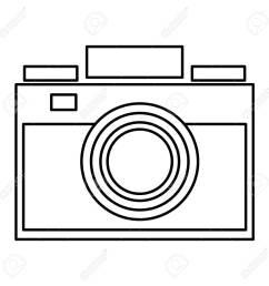 simple black line photographic camera vector illustration stock vector 58839955 [ 1300 x 1300 Pixel ]