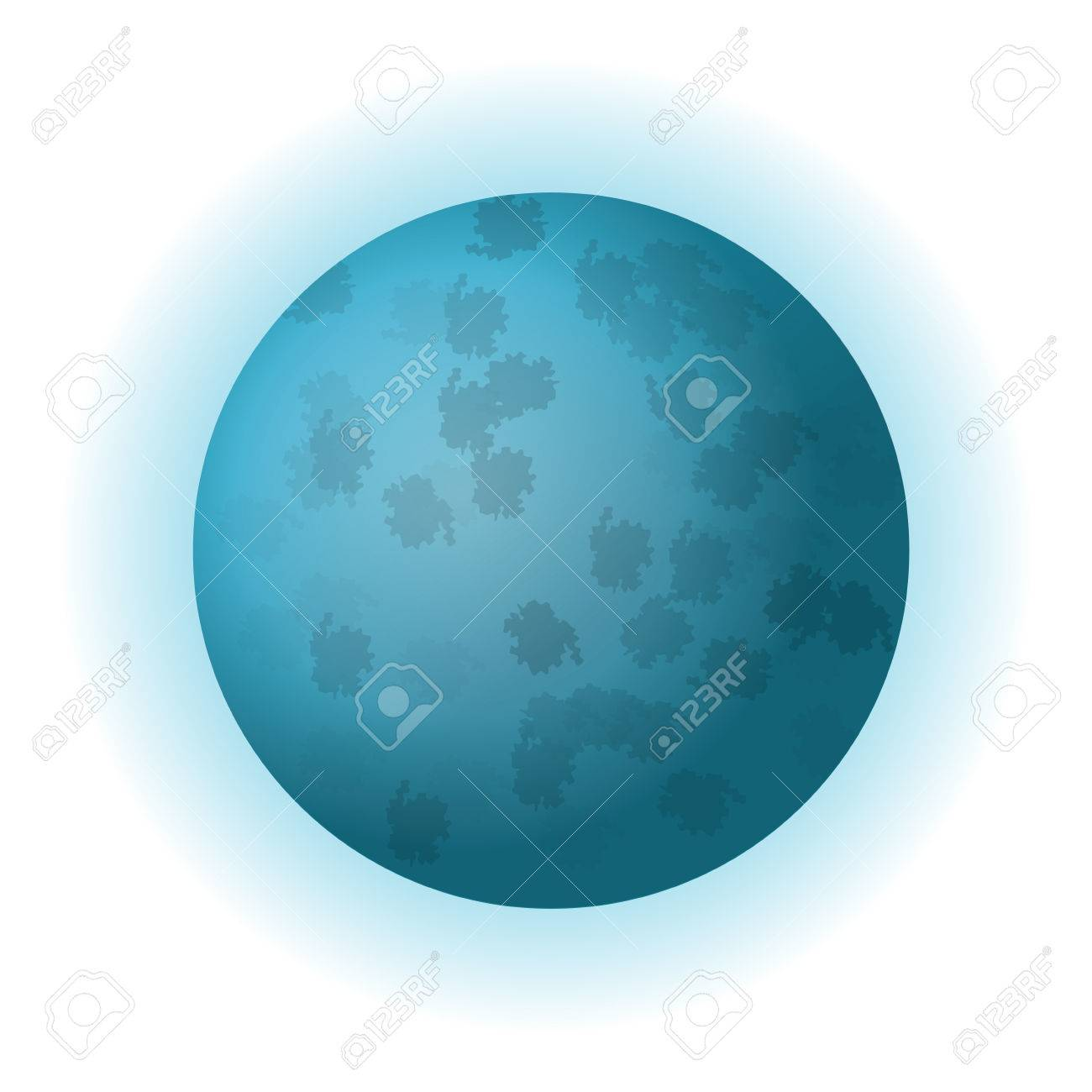 hight resolution of banque d images design plat plan te uranus ic ne illustration vectorielle