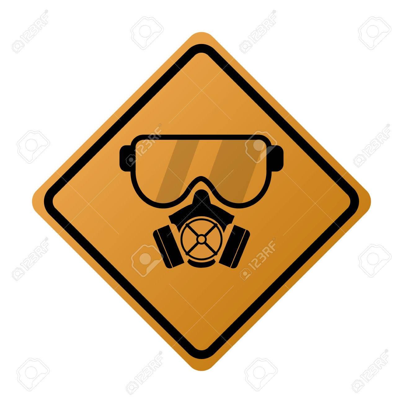 flat design gas mask