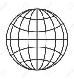 flat design earth globe diagram icon vector illustration stock vector 61116721 [ 1300 x 1300 Pixel ]