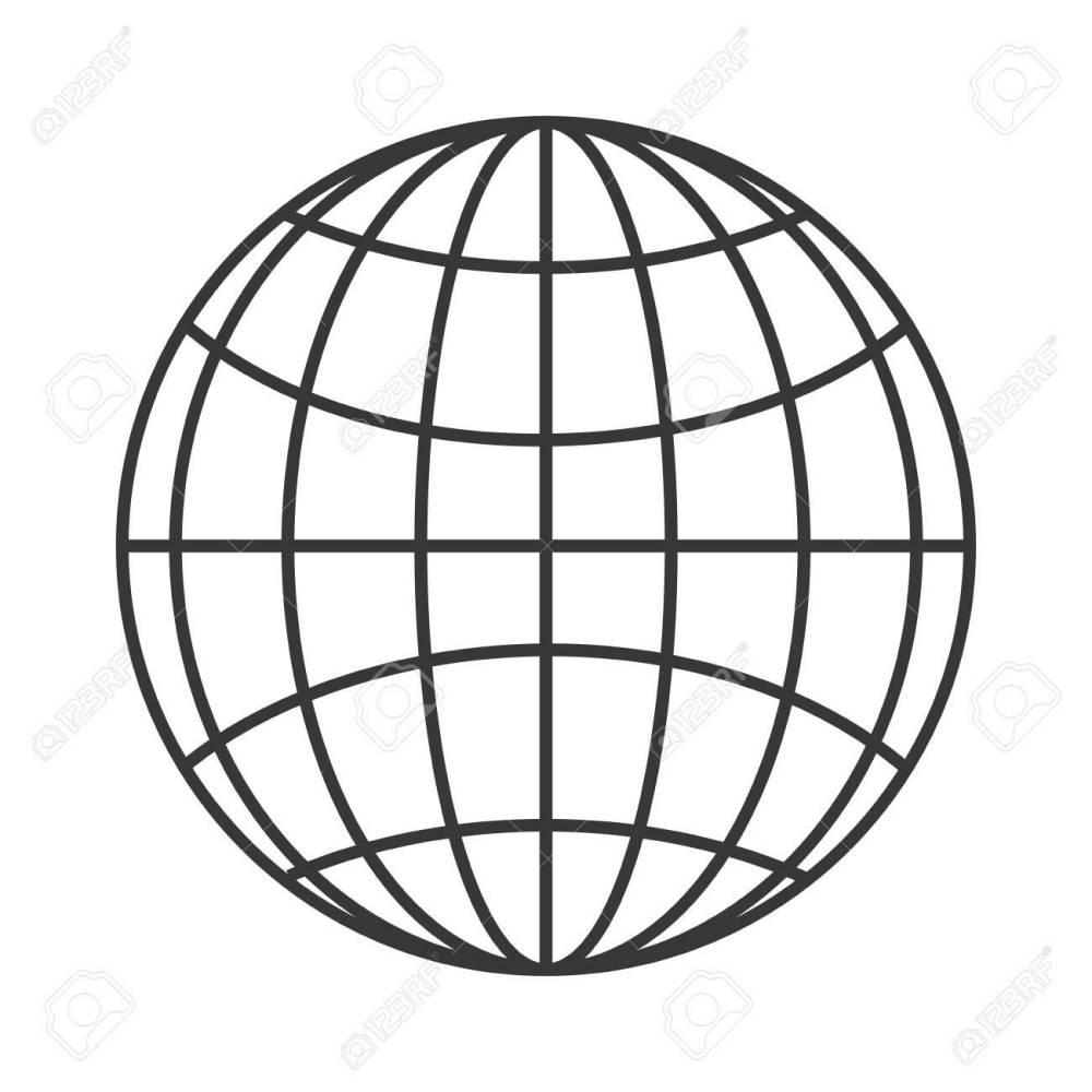 medium resolution of flat design earth globe diagram icon vector illustration stock vector 61116721