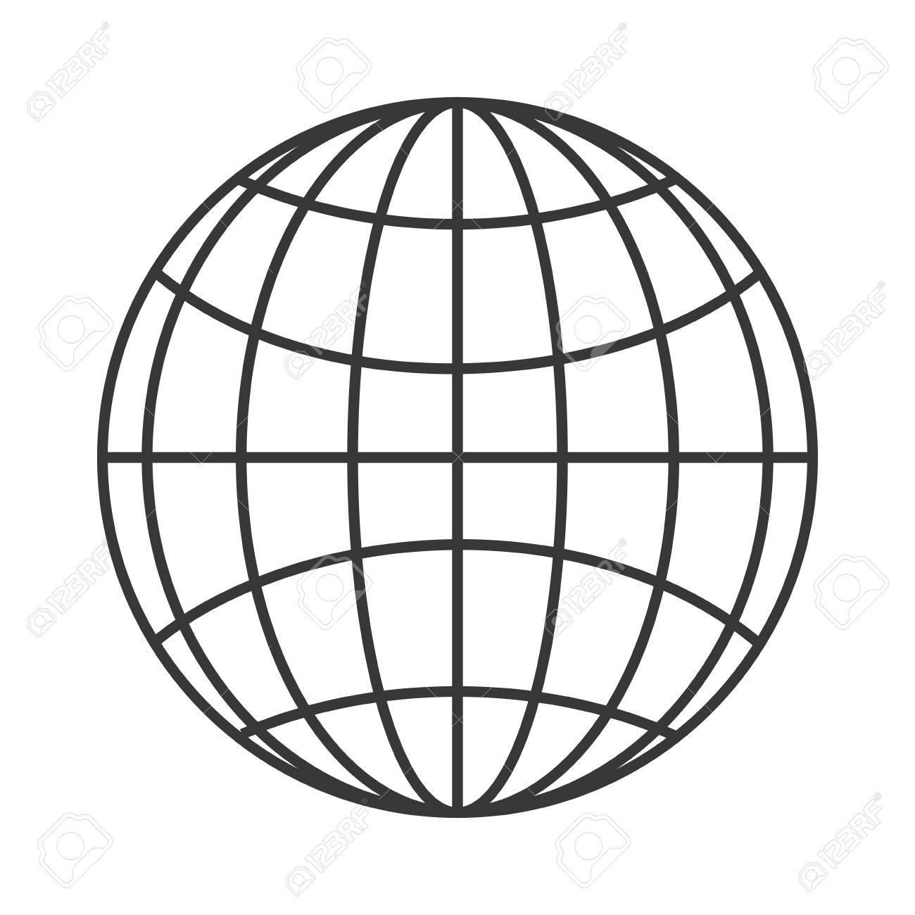 hight resolution of flat design earth globe diagram icon vector illustration stock vector 61116721