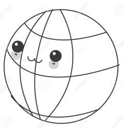 flat design kawaii earth globe diagram icon vector illustration stock vector 60679204 [ 1300 x 1300 Pixel ]