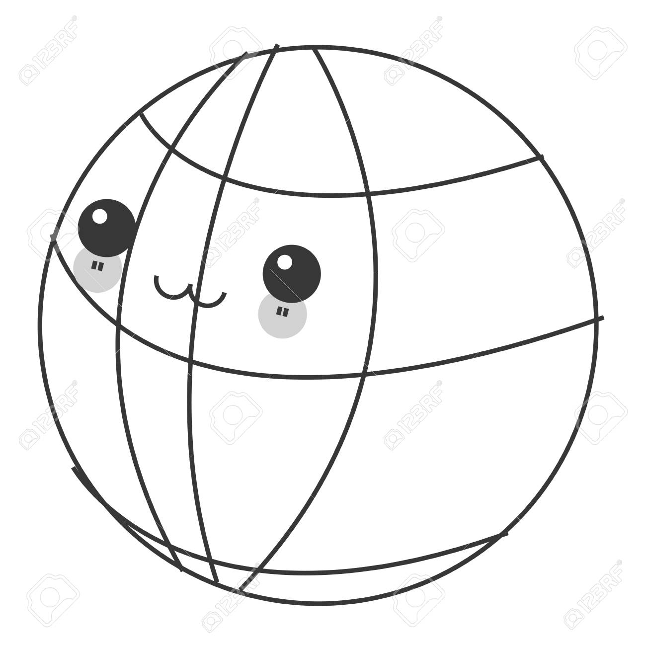 hight resolution of flat design kawaii earth globe diagram icon vector illustration stock vector 60679204