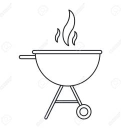 bbq grill party american football outline vector illustration stock vector 68817824 [ 1300 x 1300 Pixel ]