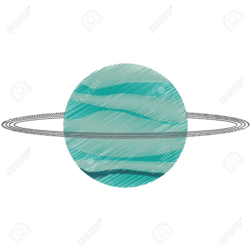 medium resolution of drawing uranus planet solar system vector illustration eps 10 stock vector 74660863