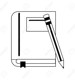 book with pencil icon image vector illustration design black and white stock vector 81273014 [ 1300 x 1300 Pixel ]