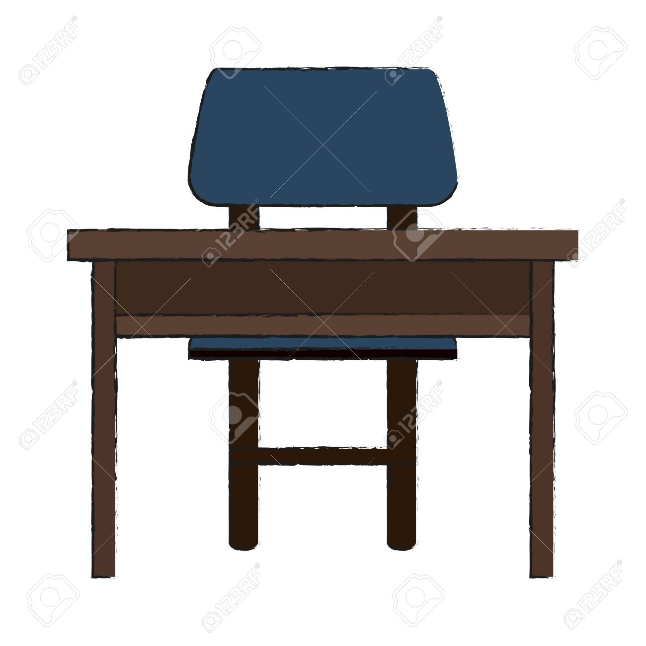 Study Table And Chair Study Desk With Chair Icon Vector Illustration Graphic Design