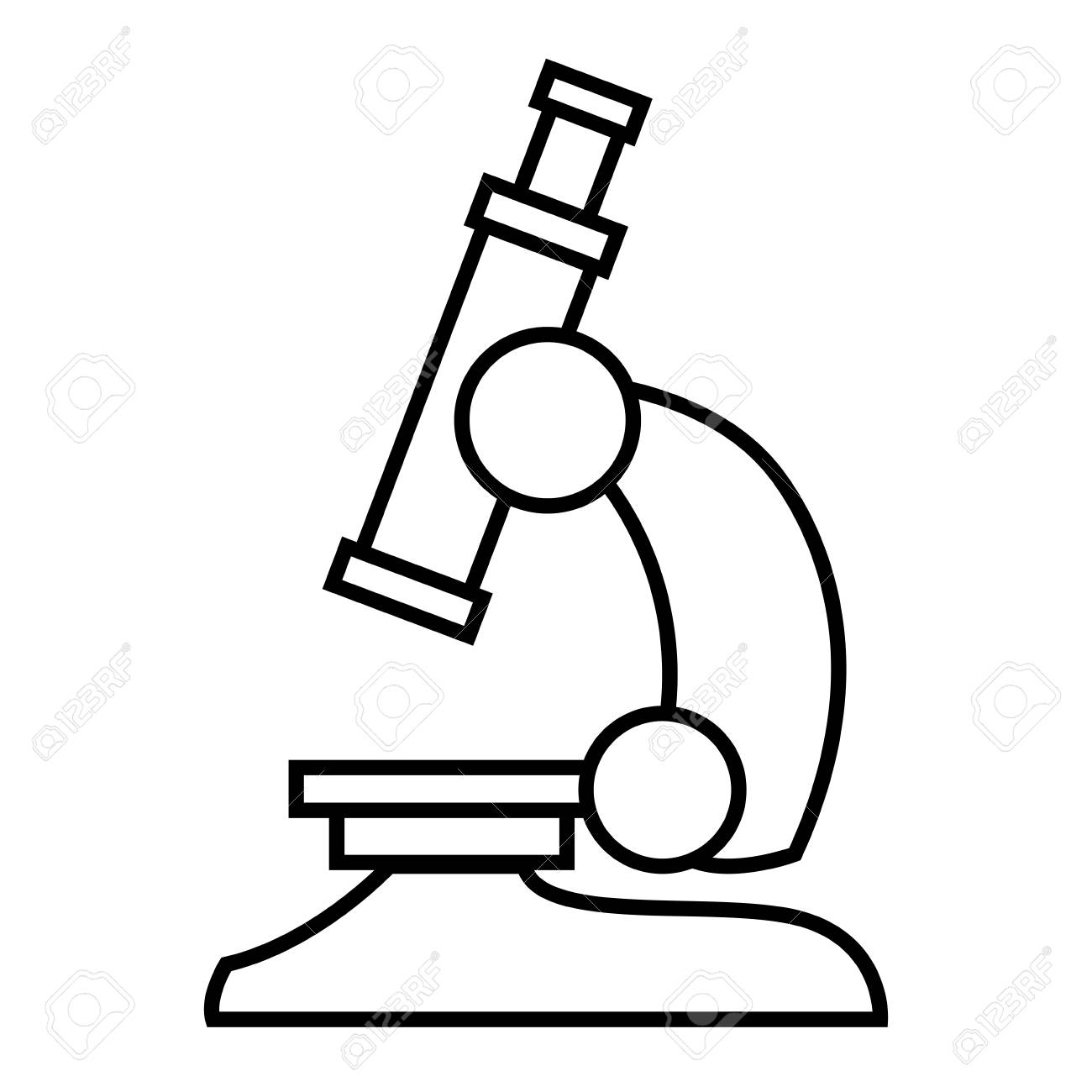 hight resolution of microscope scientific tool icon vector illustration graphic design stock vector 90307814