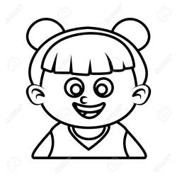 Cute Girl Face Cartoon Icon Vector Illustration Graphic Design Royalty Free Cliparts Vectors And Stock Illustration Image 90489578