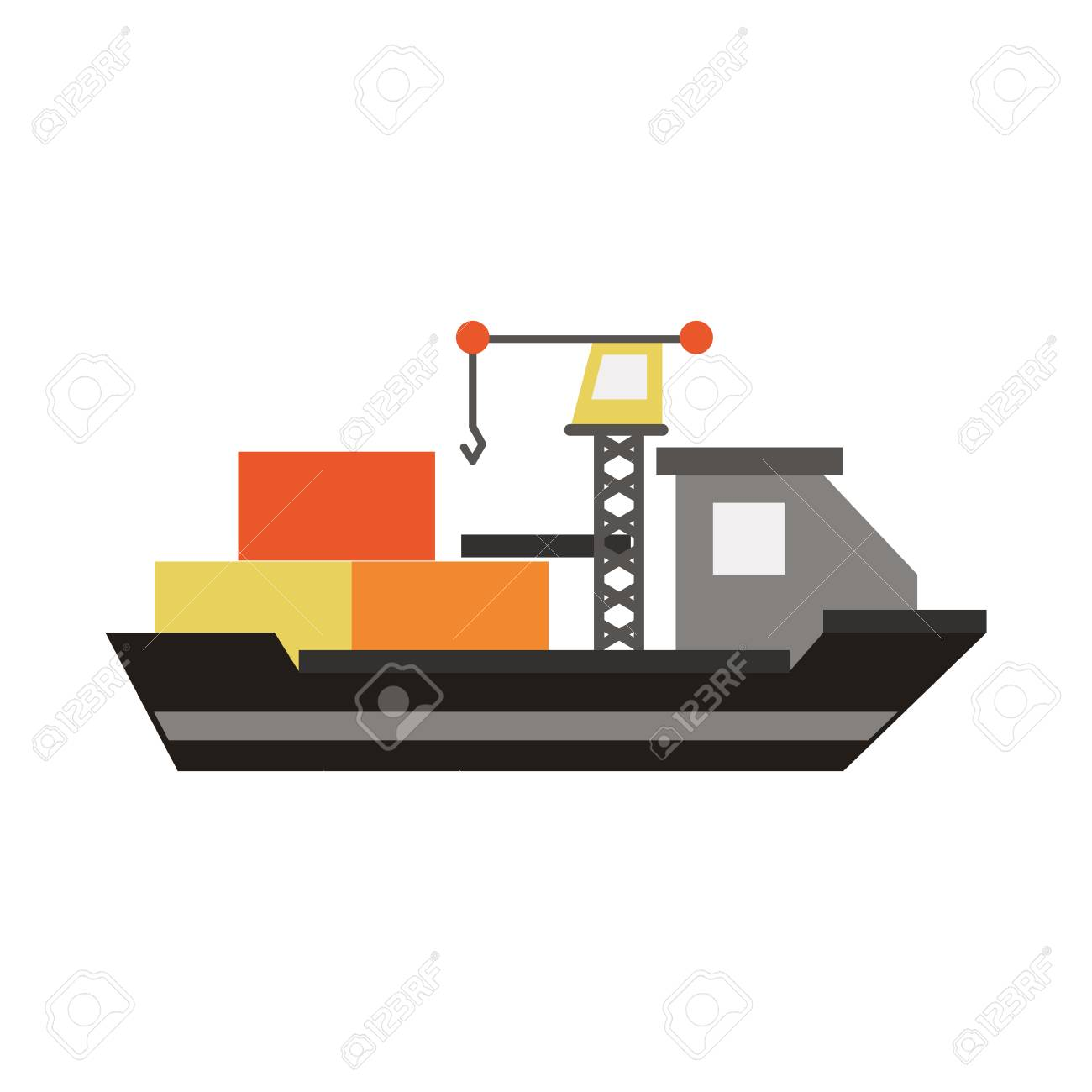 hight resolution of freighter ship symbol icon vector illustration graphic design stock vector 94538372