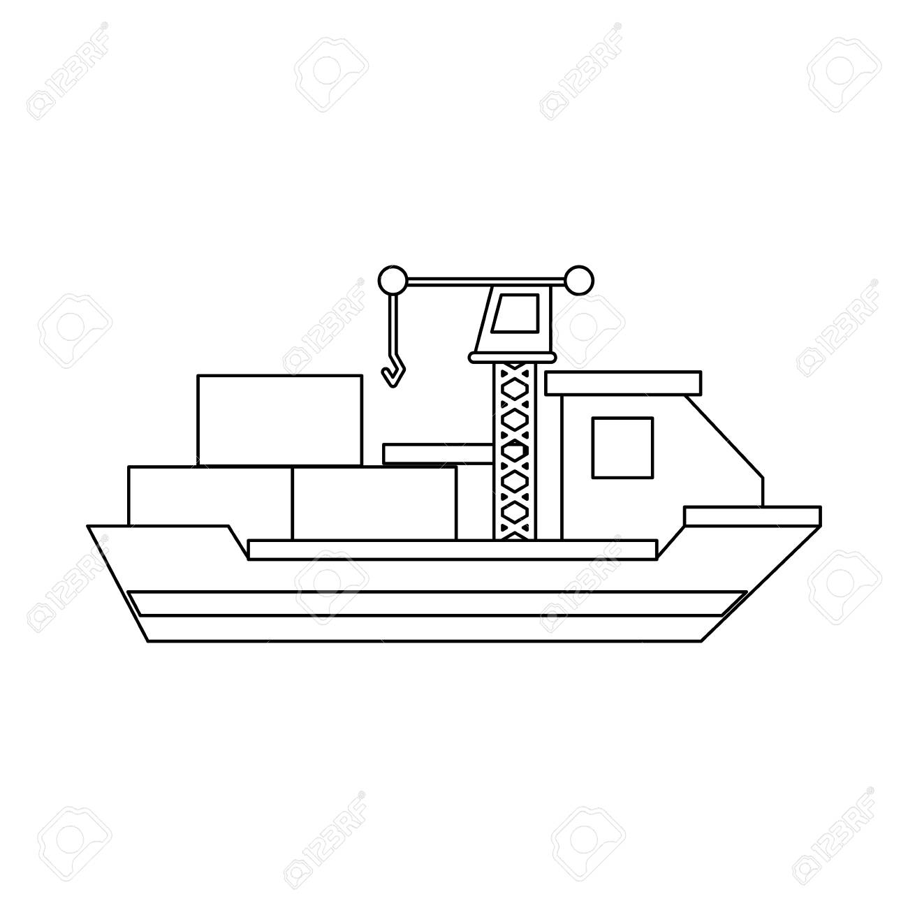 hight resolution of freighter ship symbol icon vector illustration graphic design stock vector 94443021
