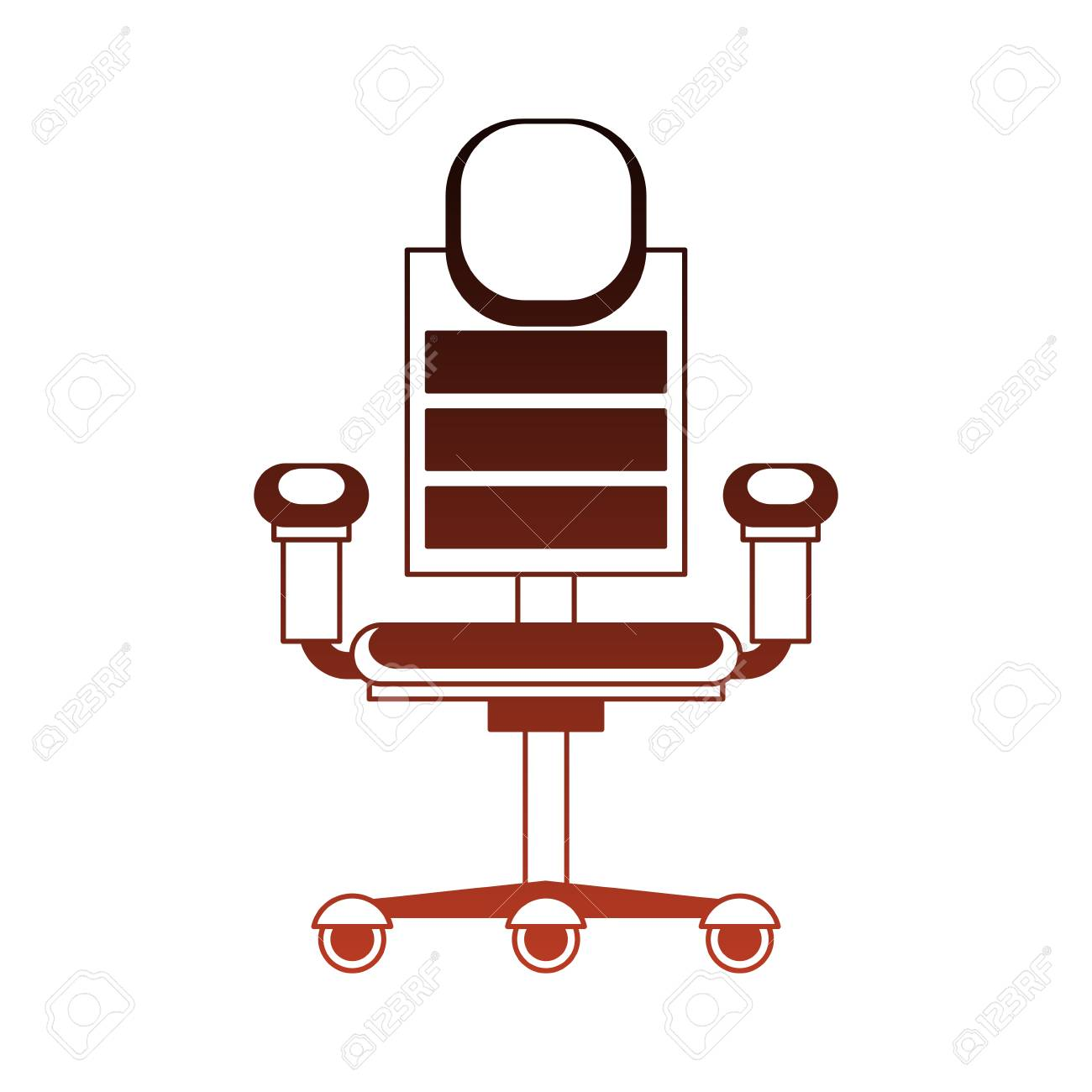 office chair illustration red club chairs with wheels vector graphic design royalty stock 102528100