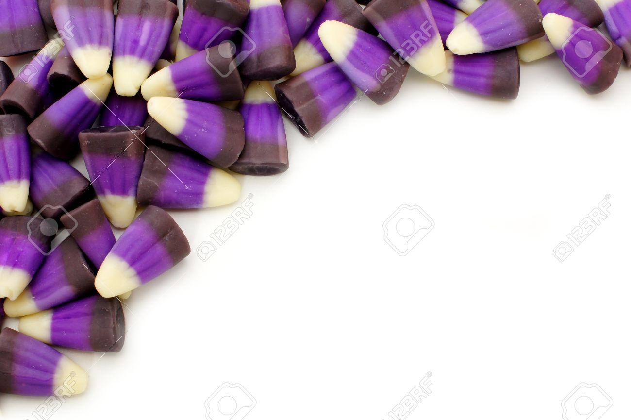 corner border of purple