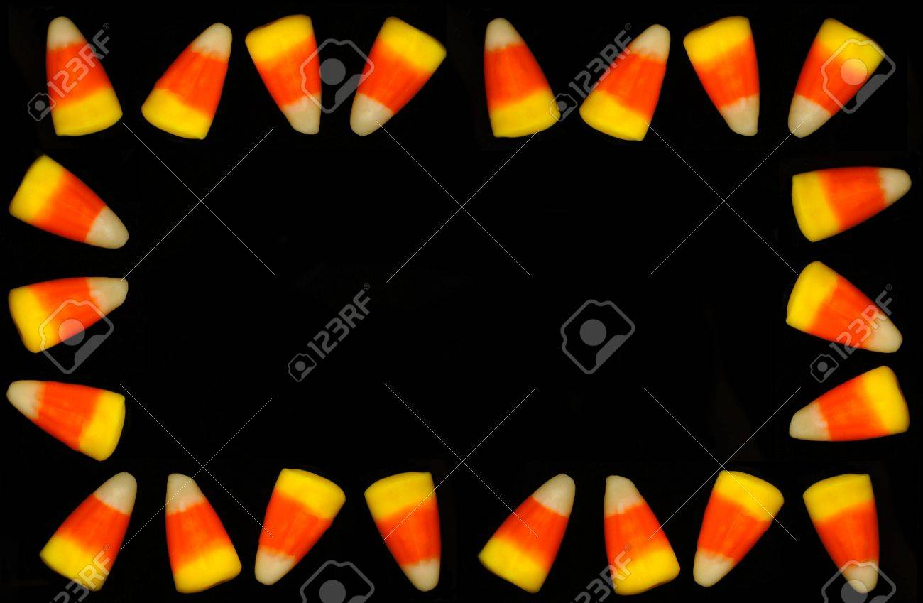 frame of halloween candy