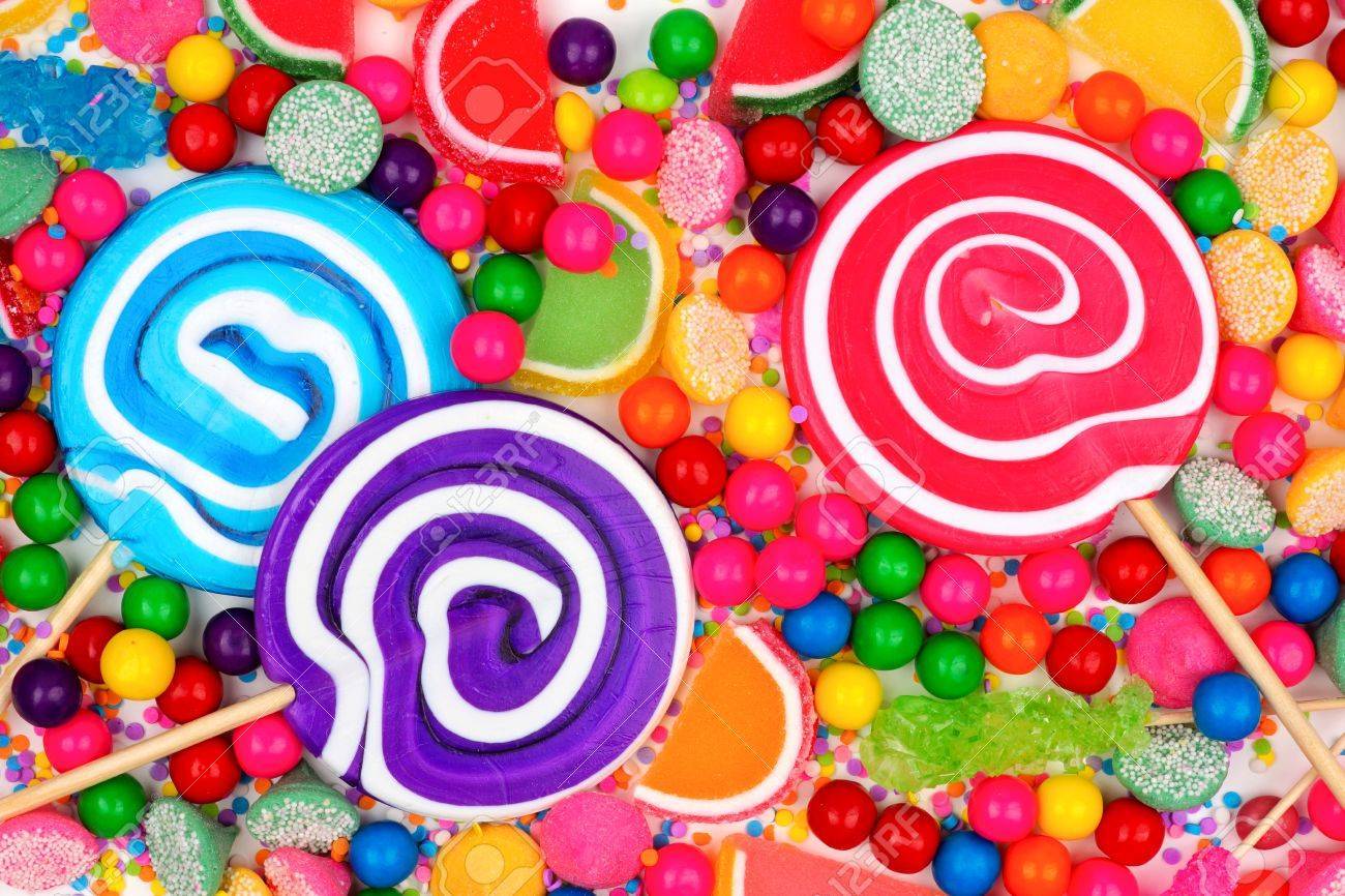 background of colorful assorted