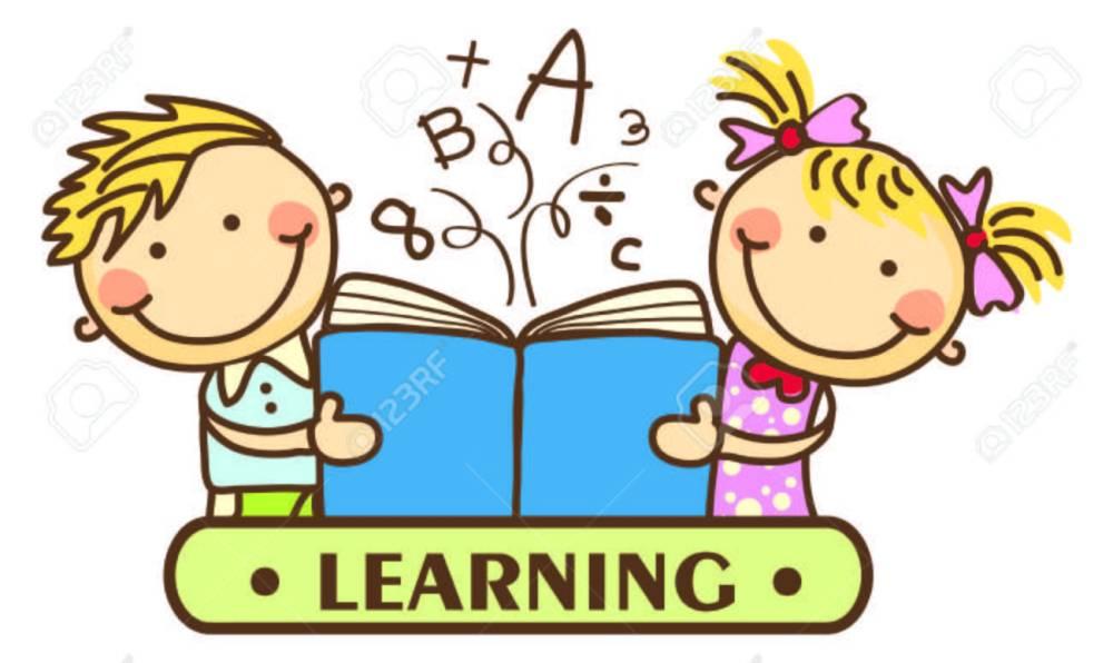 medium resolution of kids learning stock vector 31122477