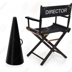 Directors Chair White Makeup Table And Director S Megaphone On Background Stock Photo 7049618