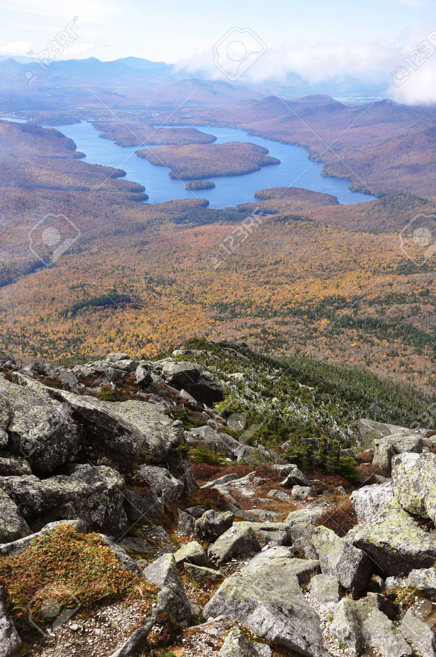 Embark on unforgettable adventures in lake placid, new york. Lake Placid View From Top Of Whiteface Mountain In Fall Adirondack Stock Photo Picture And Royalty Free Image Image 86566671