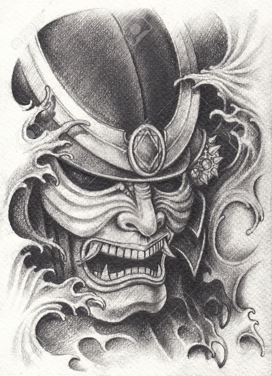 samurai warrior tattoo design