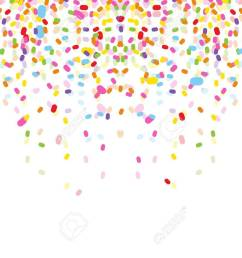 colorful confetti on white background stock vector 38408496 [ 1300 x 957 Pixel ]