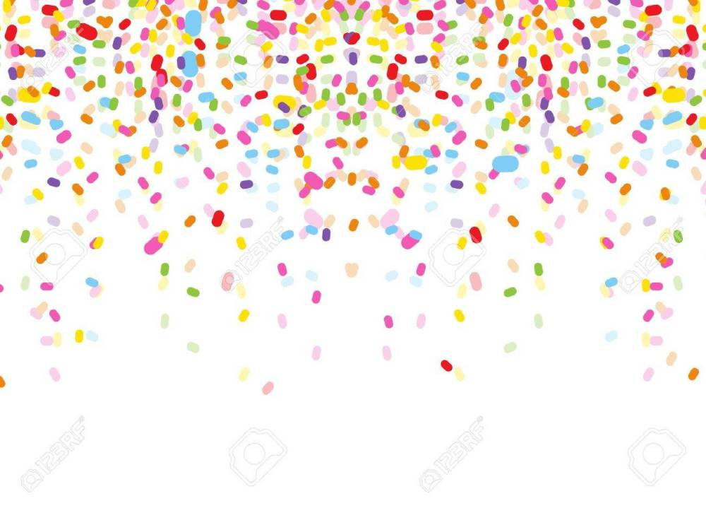 medium resolution of colorful confetti on white background stock vector 38408496