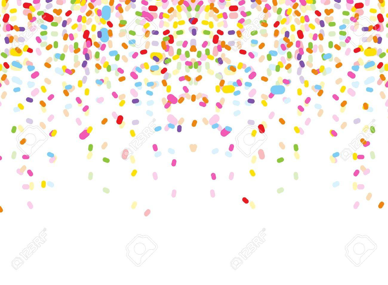 hight resolution of colorful confetti on white background stock vector 38408496