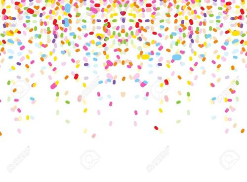 small resolution of colorful confetti on white background stock vector 38408496