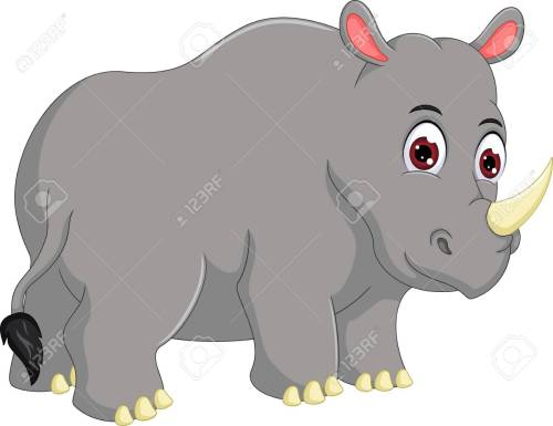 small resolution of funny rhino cartoon look up stock vector 87924778