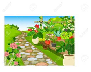 Cool Park Garden With Flower Cartoon For Your Design Royalty Free Cliparts Vectors And Stock Illustration Image 130416122