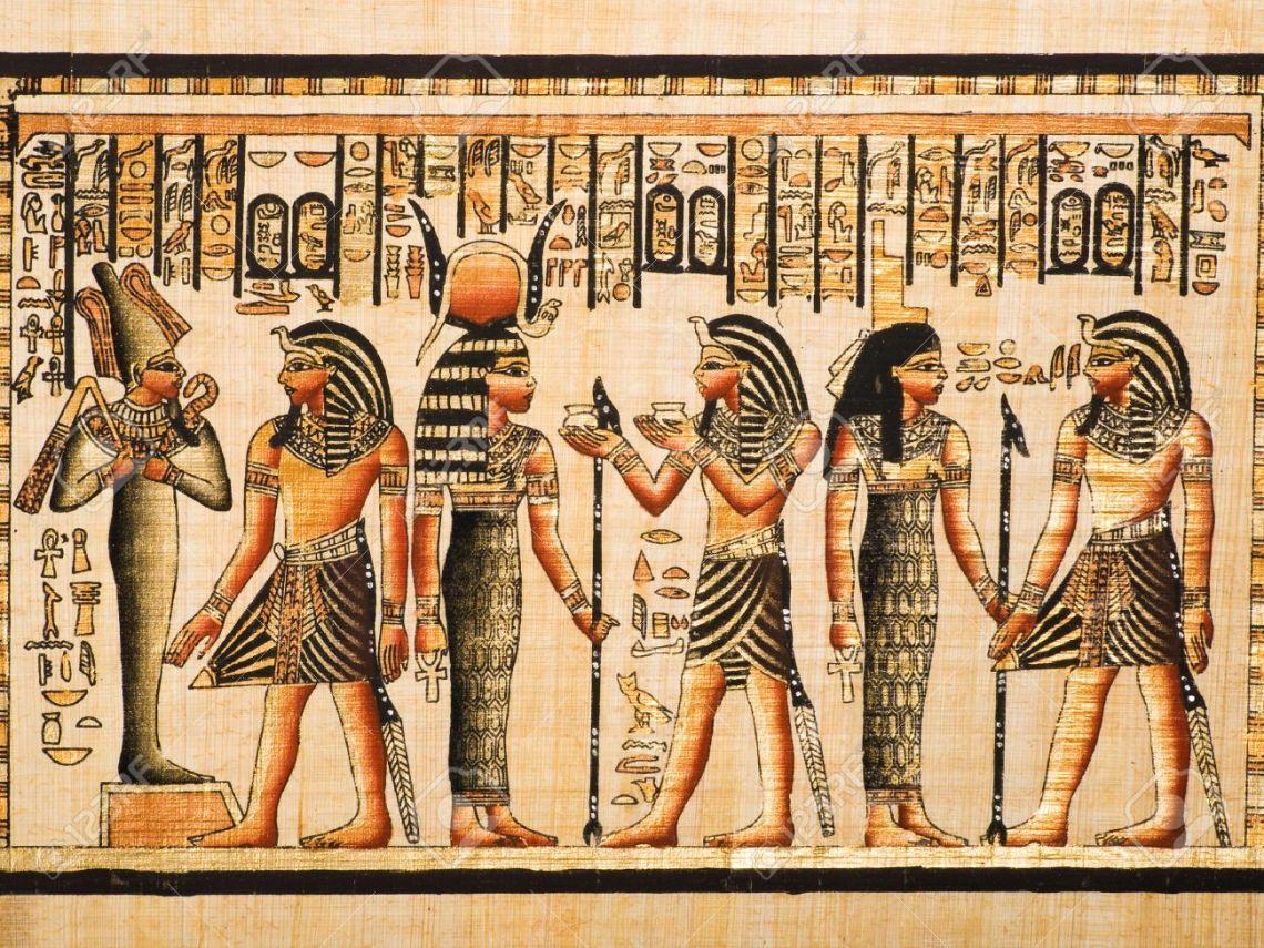 Immagini Stock - Papiro Egiziano Che Mostrano Il Faraone ...