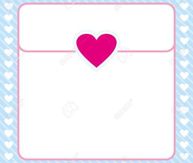 Pink And Blue Heart Border Frame Vector Design For Valentines Day Love Letter Love