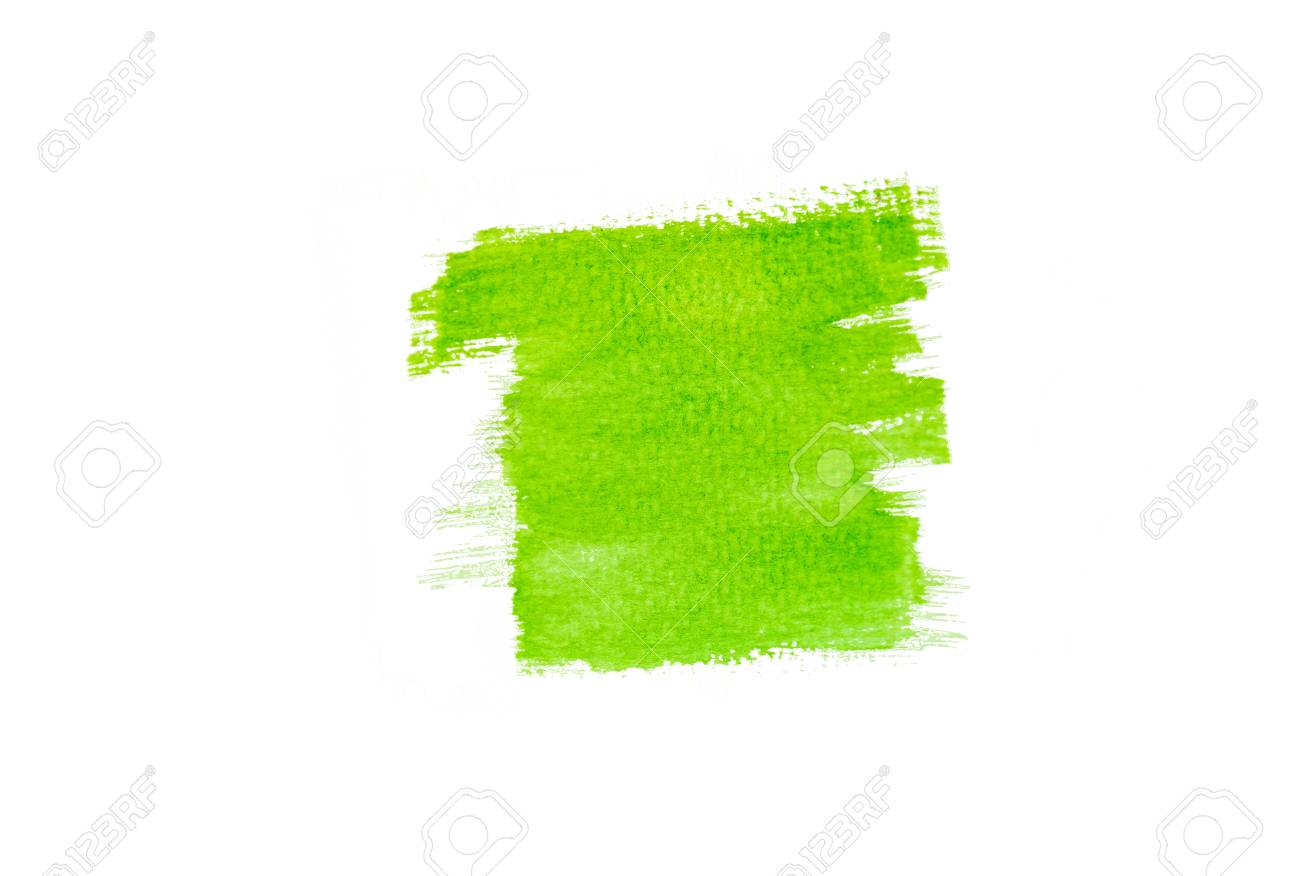 green color paint brush