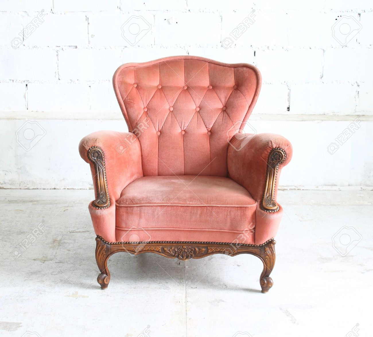 vintage arm chair how to recover a dining room back luxurious armchair stock photo picture and royalty free 15207722