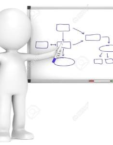 little human character with whiteboard flow chart business people series stock photo also rh rf