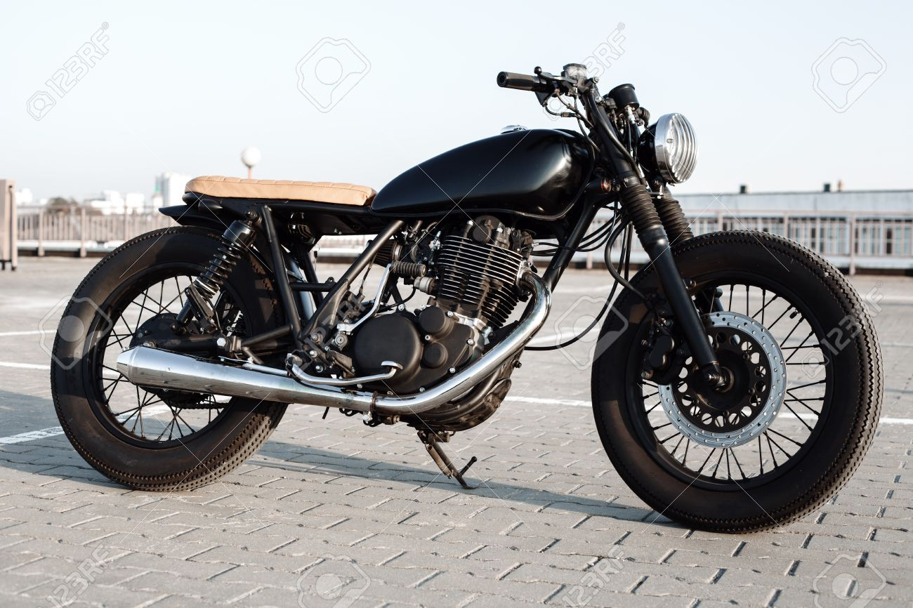 vintage custom motorcycle in