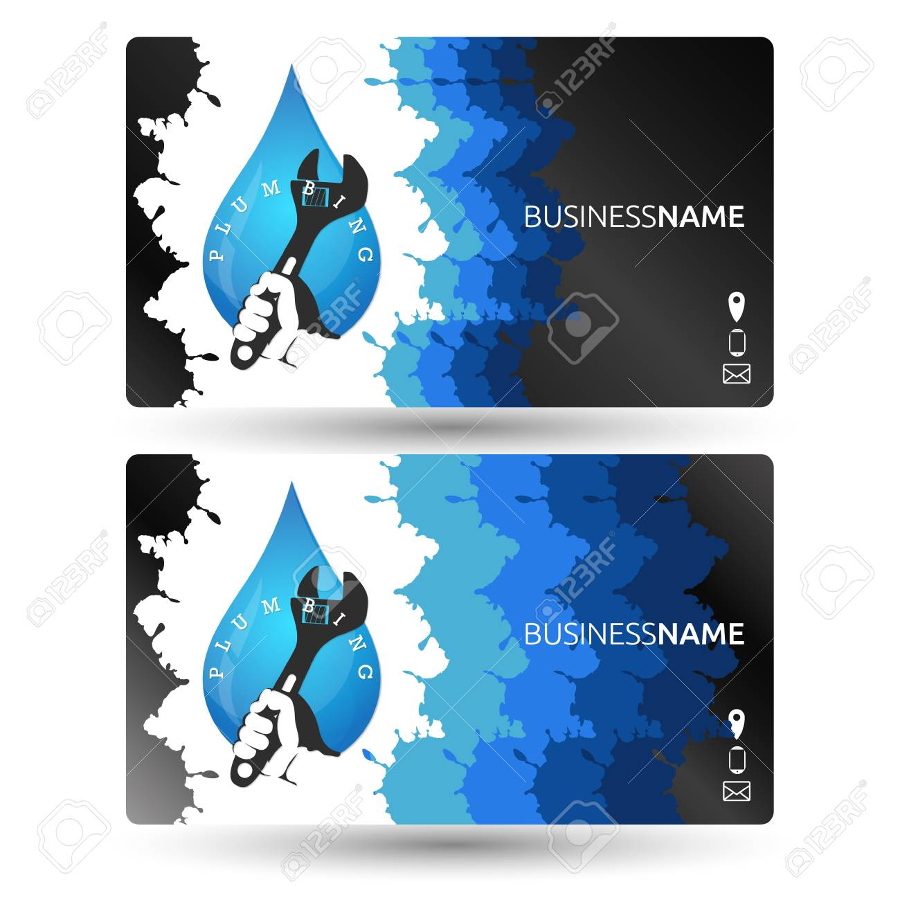 Plumbing Business Card Design Template Royalty Free Cliparts Vectors And Stock Illustration Image 74124087