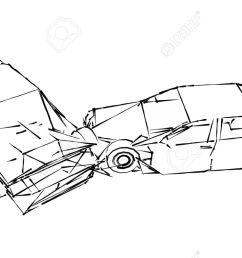 car crash accident sketch stock photo picture and royalty free motor vehicle accident diagrams [ 1300 x 787 Pixel ]