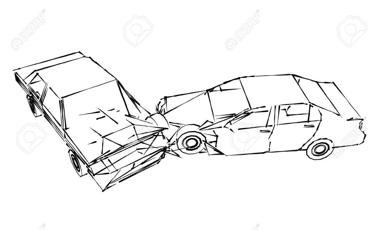 hight resolution of car crash accident sketch stock photo picture and royalty free motor vehicle accident diagrams