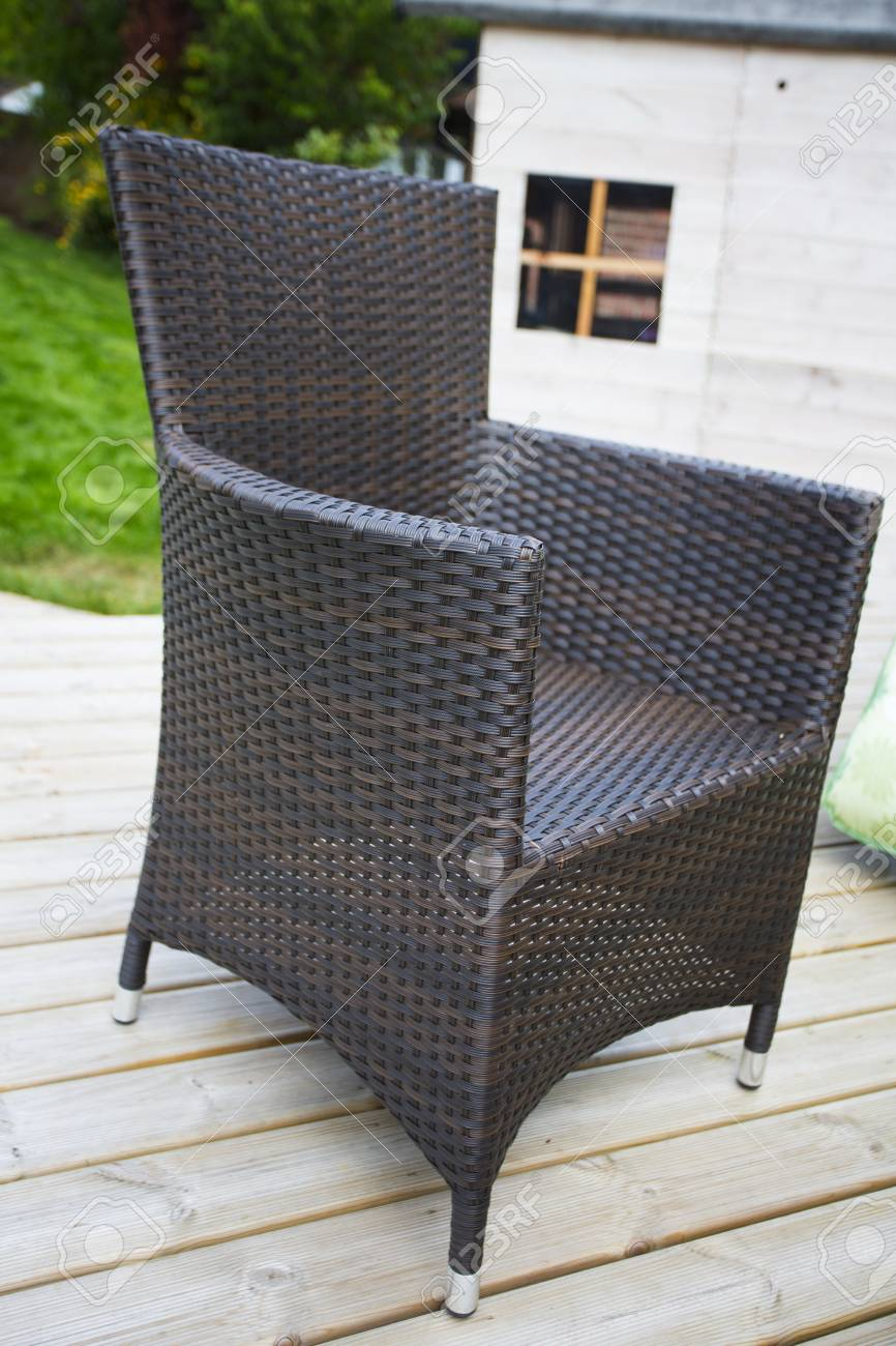 woven plastic garden chairs antique bentwood high chair in contemporary style stock photo 27776539
