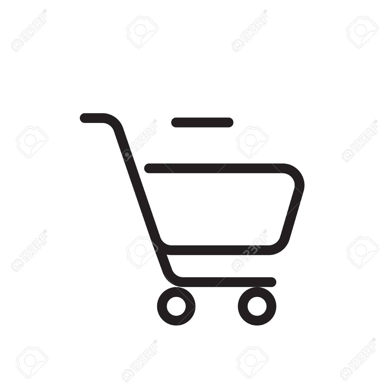 outline cart icon icon